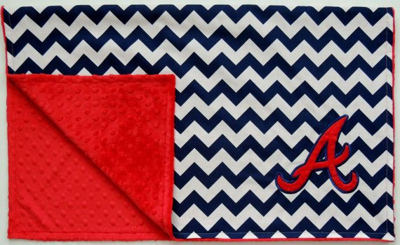 Atlanta Braves Baby and Toddler Minky Dot Blanket! #pinparty #MadeintheUSA