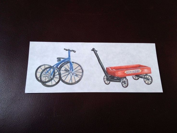 CREATIVE MEMORIES STICKERS: HERITAGE TOYS WAGON TRICYCLE #CreativeMemories