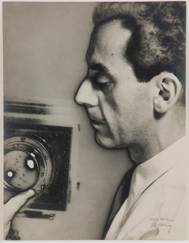 """Man Ray (American, 1890 – 1976) / """"Self Portrait (solarized),"""" c. 1932 / Gelatin silver print / Des Moines Art Center Permanent Collections; Purchased with funds from the Mildred M. Bohen Deaccessioning Fund, 2008.37 / Photo Credit: Rich Sanders, Des Moines"""
