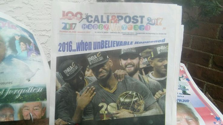 News Cleveland Call & Post Year in Review TRUMP Prince  Lebron & more Full Paper