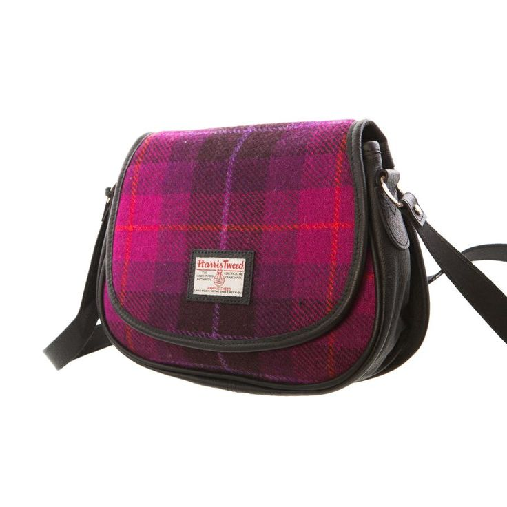 Scarlet Feather - Scarlet Feather Harris Tweed Ladies Small Bag Made in UK: Purple - Dunedin Cashmere