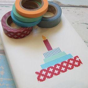 Masking Tape : invitation anniversaire