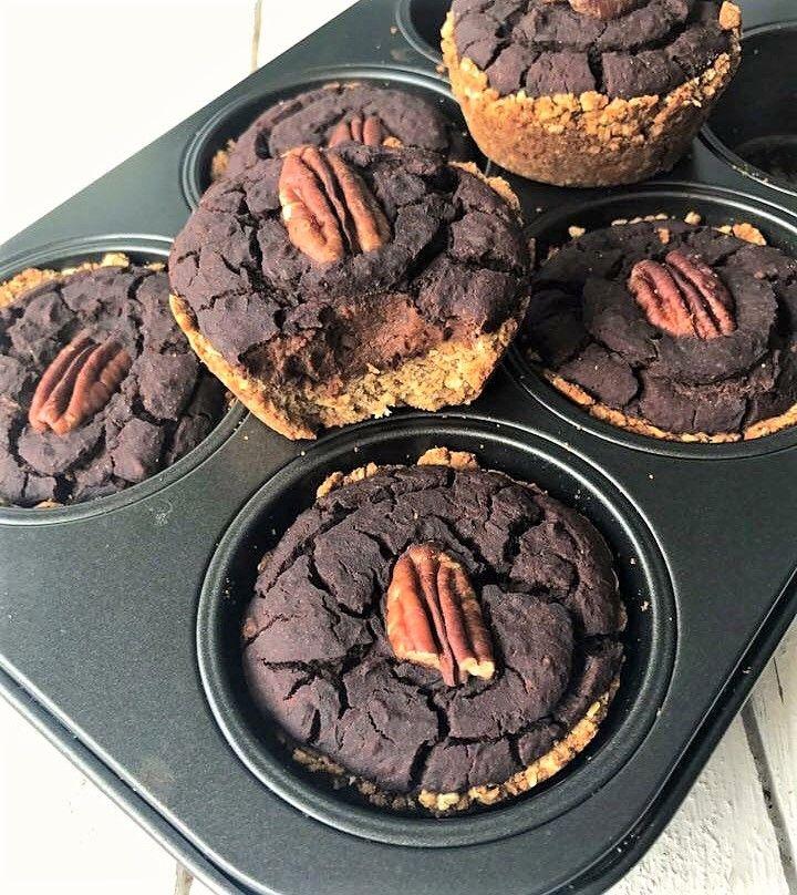 Glutenvrije Brownie Cups met een krokante bodem - Oh My Pie!