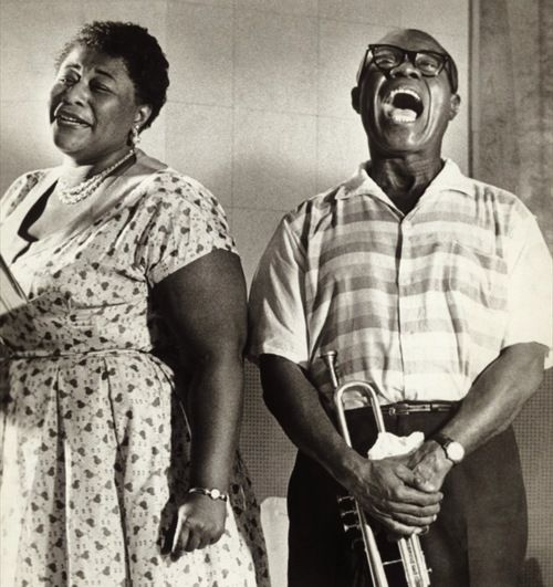 two of the most talented people to ever live.  ever.  Ella Fitzgerald and Louis Armstrong, 1950s