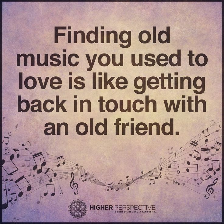 Finding old music you used to love is like getting touch ...