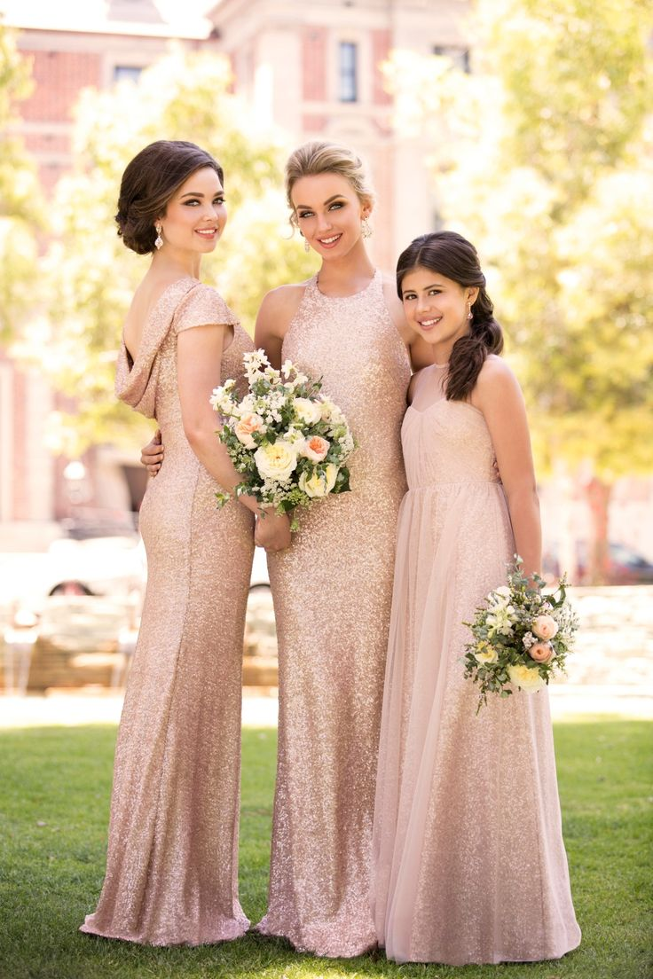 The perfect, glamorous addition to the Sorella Vita Modern Metallic collection, this new sequin bridesmaid dress was designed for the elegant, trendy bridal party!