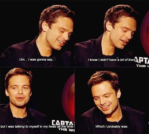 Sebastian Stan interview --- ahaha I would be doing the same thing