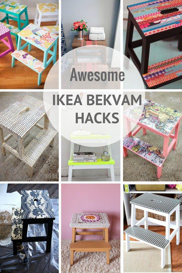 The Most Amazing 12 Ikea Bekvam Stool Hacks Pillar Box Blue Bekvam Diy Deko Ideen Zimmer Ikea Lampenschirme Kinderbett Design