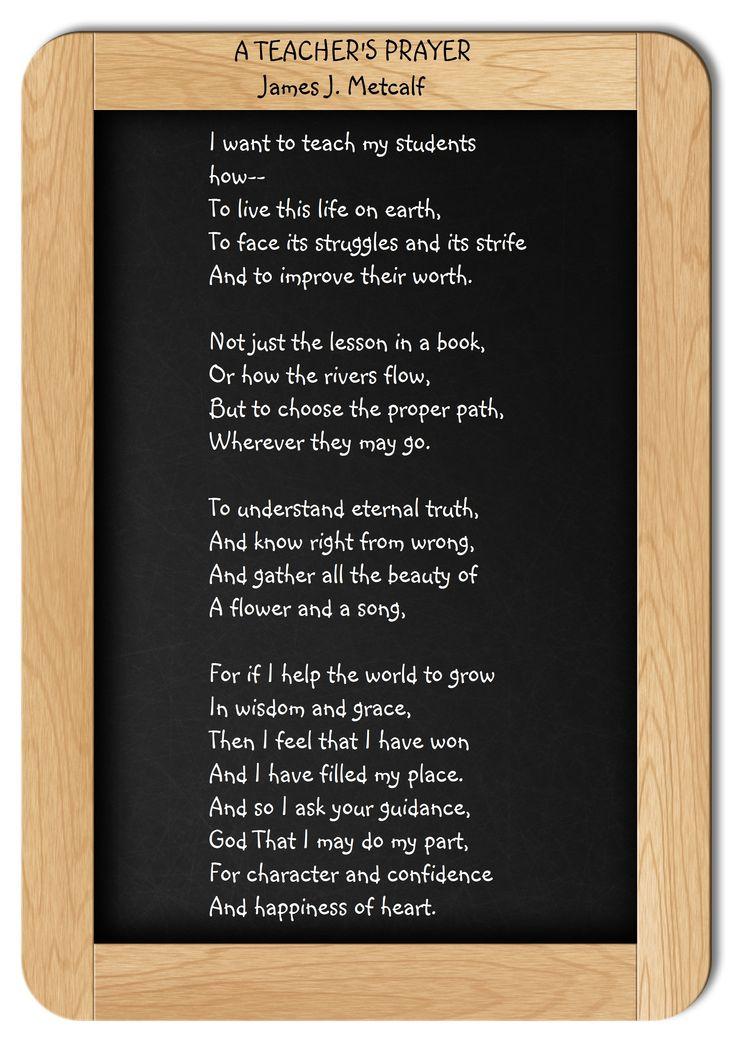 Classroom Prayer Ideas ~ Best ideas about teacher prayer on pinterest