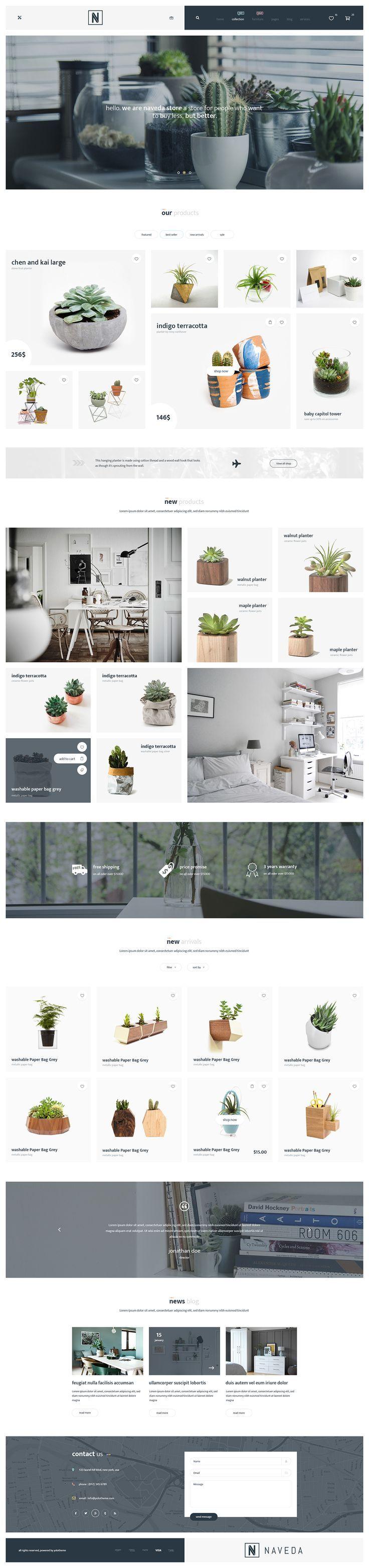 Naveda Creative PSD Template on Behance Latest News & Trends on webdesign