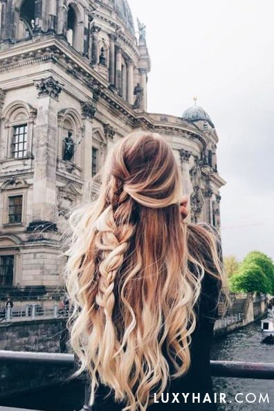 Perfect Blonde Hair on   @sarah.nourse who is rocking her custom colored @luxyhair extensions in Berlin. xo