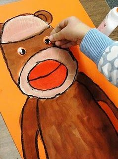 Sock Monkey Art Lesson - I don't really know exactly how I'd fit this into the PLOs, but it's just so darn cute!