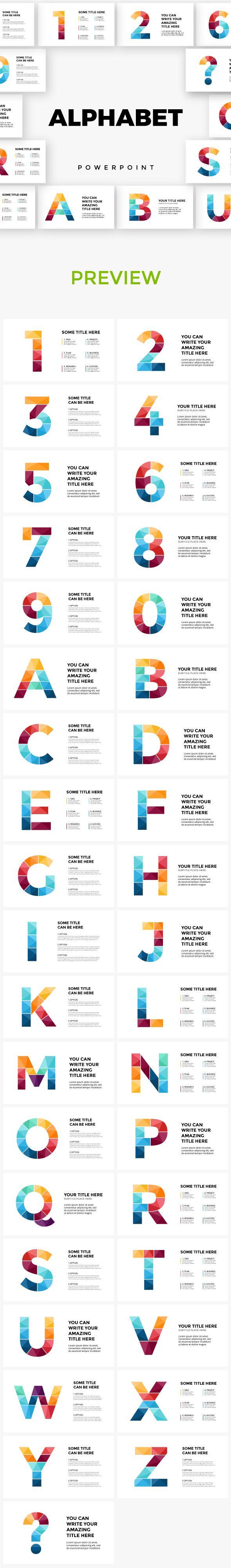 Alphabet Powerpoint Infographic Templates