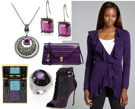 Deep winter - purple is my favorite color.