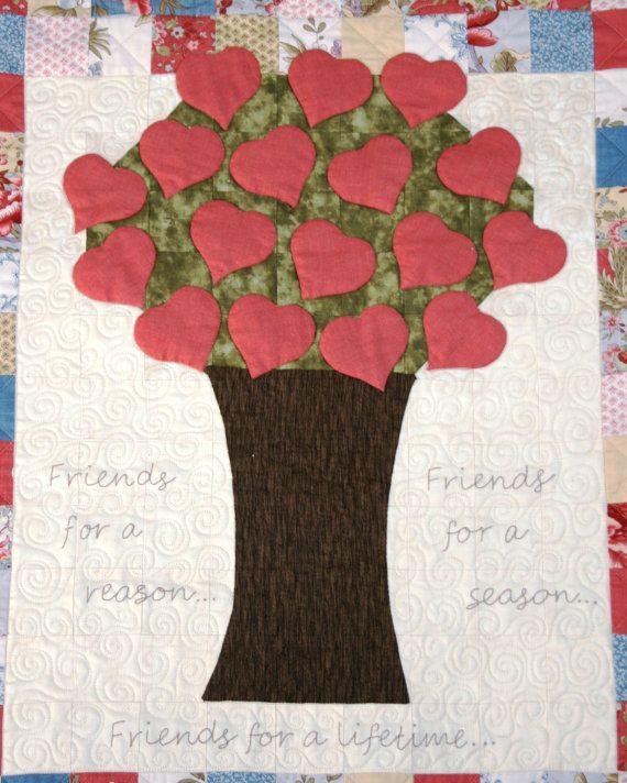 NEW DIGITAL DOWNLOAD: Exciting new Block of the Month called Friendship Quilt. A unique quilt including foundation piecing, appliqué, stitchery and English paper