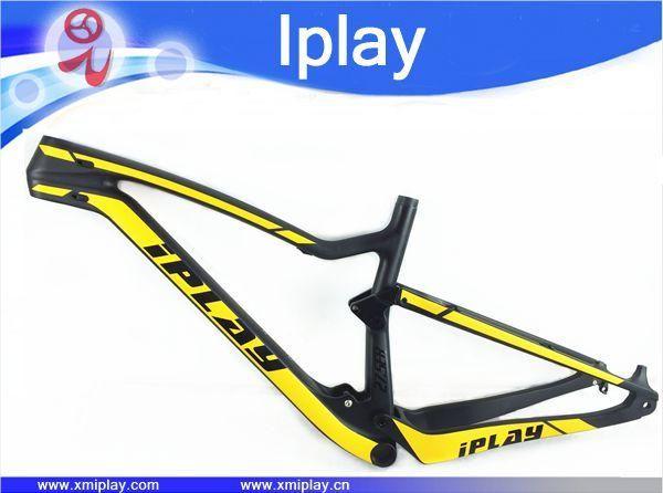 IPLAY New carbon mtb frame full suspension frame 29er carbon mountain bike frame 27.5er full suspension carbon frame 142*12mm