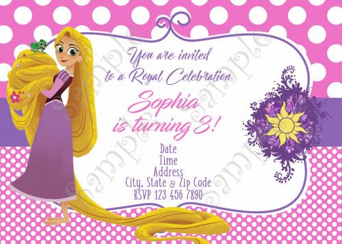 Rapunzel Invitation, Tangled Invitation, Rapunzel Thank you card, Tangled Before ever after