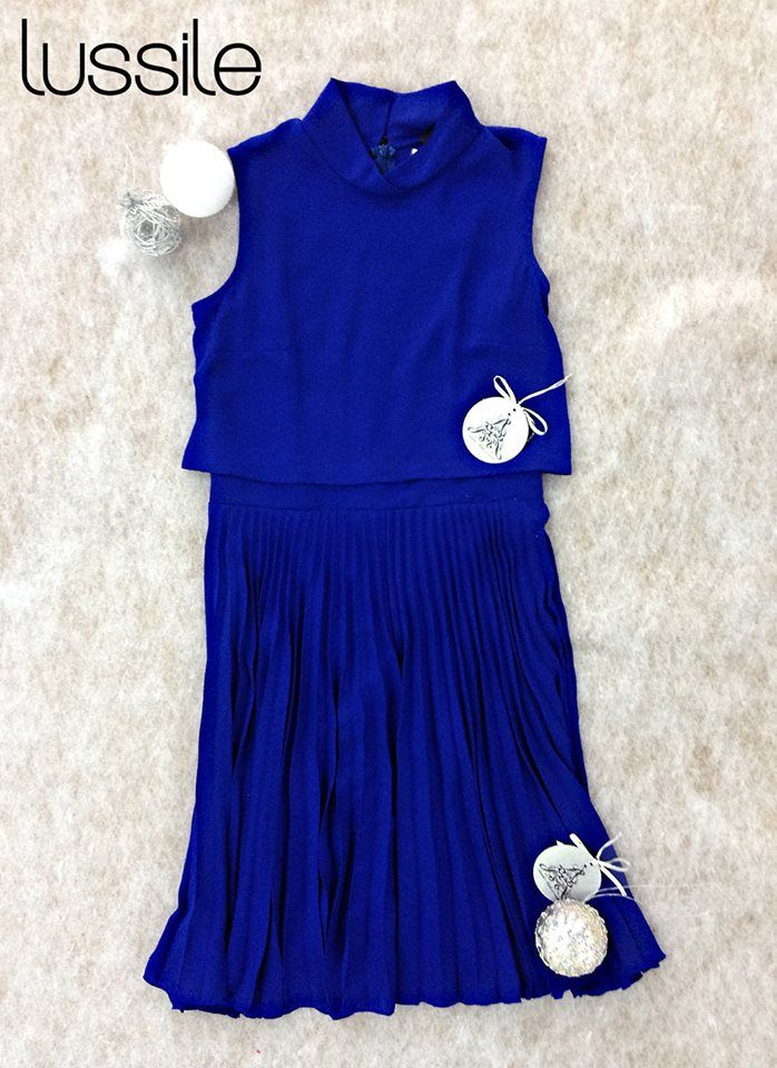 A/W 14 Blue Dress Lussile #dress #giftideas #party #christmas