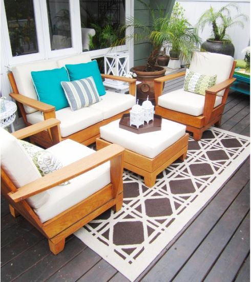 12 best images about decoraci n de exteriores on pinterest for Muebles terraza