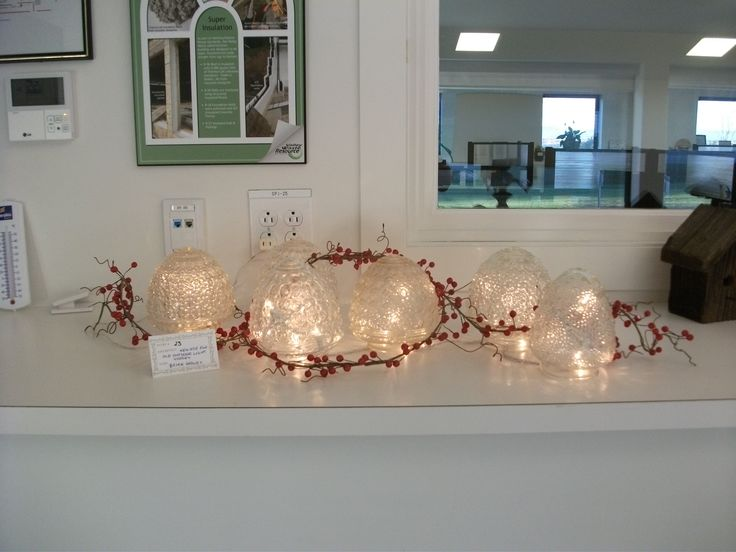 Decorative lights made from glass light fixtures. Entry submitted by Brian Graves