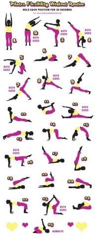 super ćwiczenia na gibkość i trochę na wypracowanie mięśni brzucha:) w skrocie: pilates!