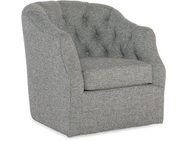 The Addie Swivel Chair features a deluxe seat cushion, welt trim and traditional frame styling.