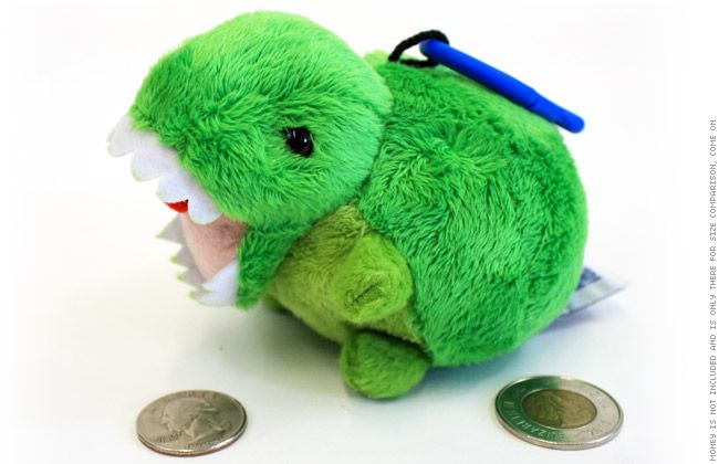 TopatoCo Key Rex Plush, WOW! Dinosaur stuffed animal