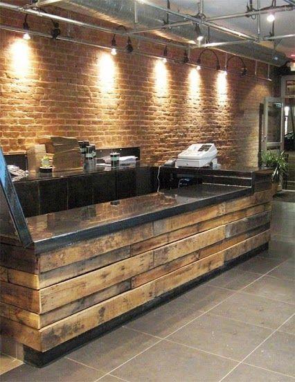 M s de 25 ideas incre bles sobre barra de pal s en for Bar de madera para sala