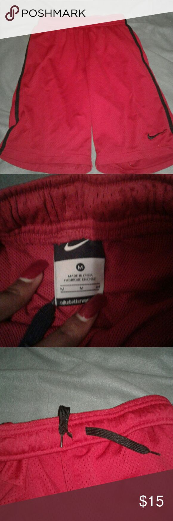Nike basketball shorts Red & black nike shorts good condition and offer is welcome Nike Other