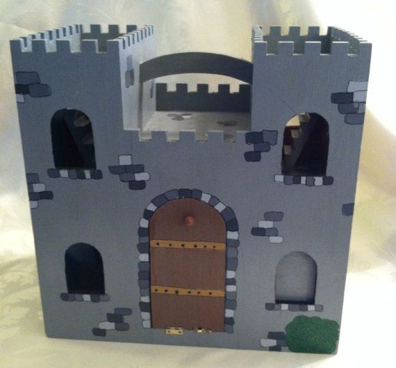 Customized Wooden Peg People Castle by MakingsFromMommyland, $95.00