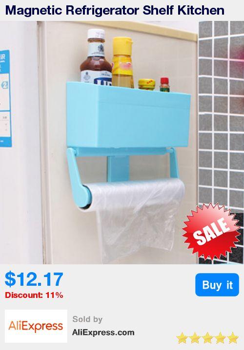 Magnetic Refrigerator Shelf Kitchen Storage Rack Paper Towel Bottle Rack Cling Film Holder for Refrigerator Bathroom Accessories * Pub Date: 00:40 Jul 7 2017