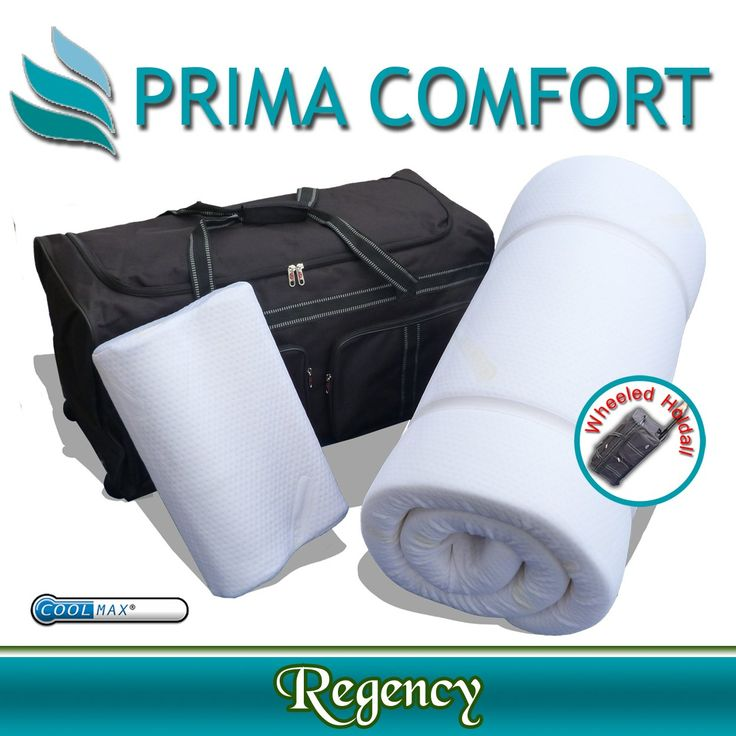Prima Comfort Memory Foam Portable Travel Mattress Topper And Pillow The Regency 7 Day Money Back Guarantee 70x190x5cm With Coolmax