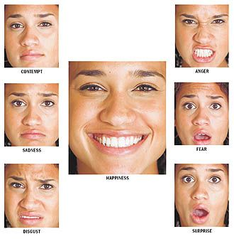 Psychology emotion facial expression