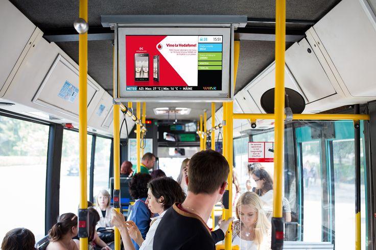 Digital signage / Public Transport / Tranzit: real time information #advertising #digital #OOH