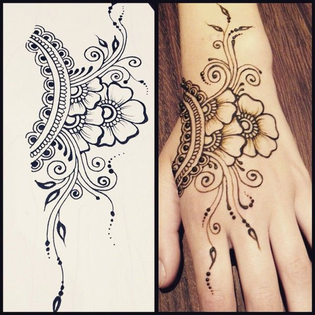 the 25 best henna flower designs ideas on pinterest