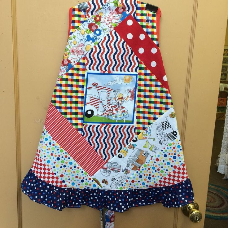 Handmade Apron Mini Quilt (No Rhyme Or Reason) Laundry Done Glaming Style  | eBay