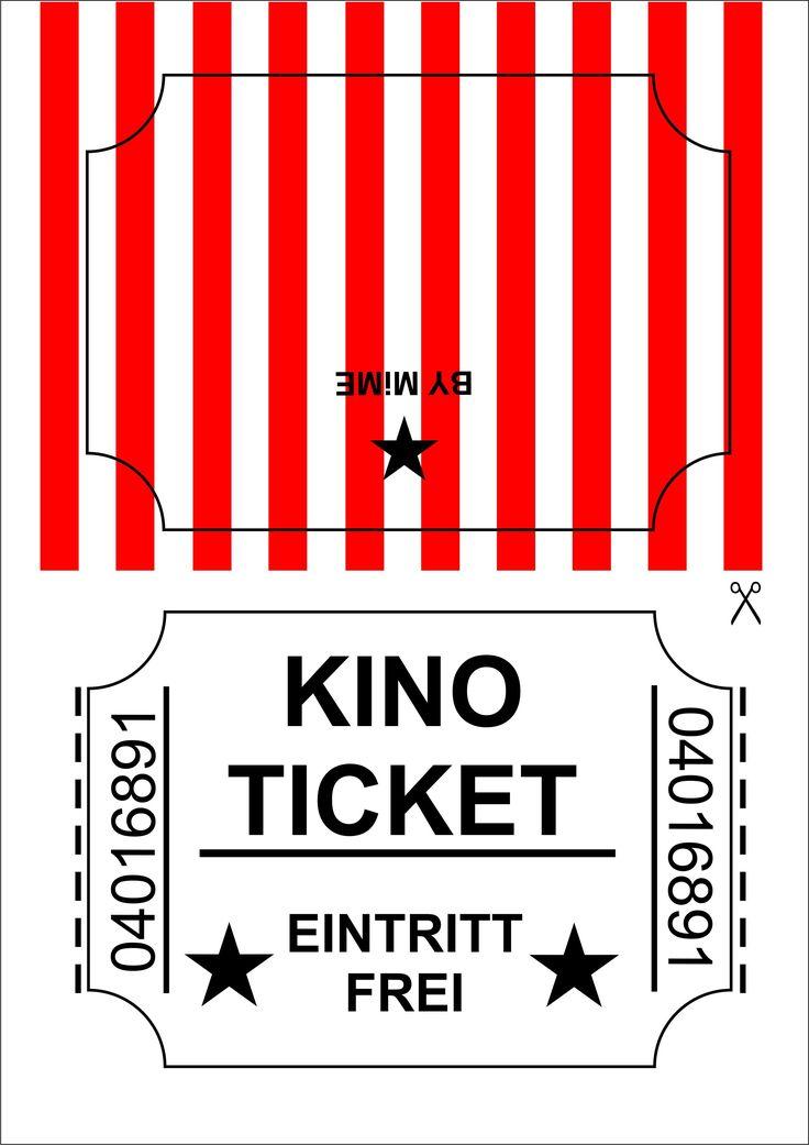 Kinogutschein selber basteln - Kostenloses Printable auf blog.hellomime.eu