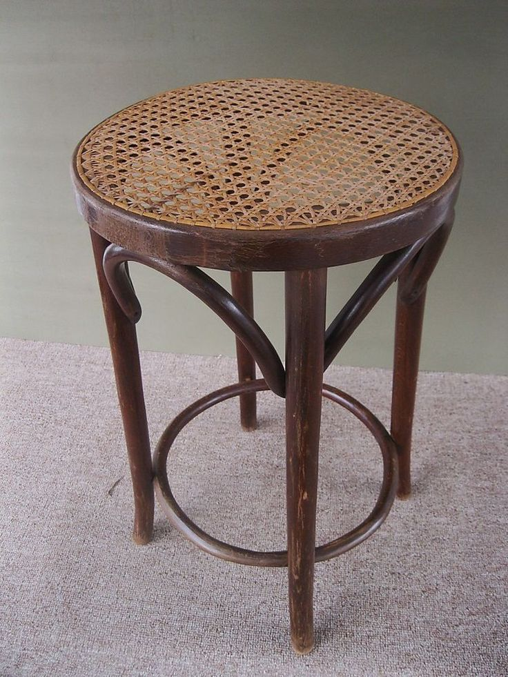 Vintage Stool Round Pine Thonet Style Bentwood Tall Bar Counter Cane Seat & 16 best Bar stools images on Pinterest | Bar counter Counter ... islam-shia.org