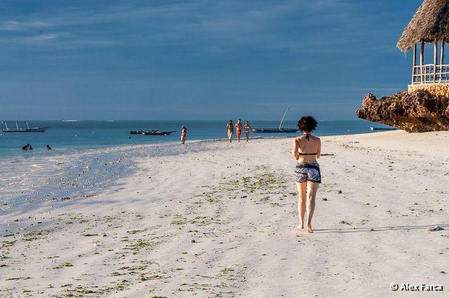 White beach at Indian Ocean, Zanzibar