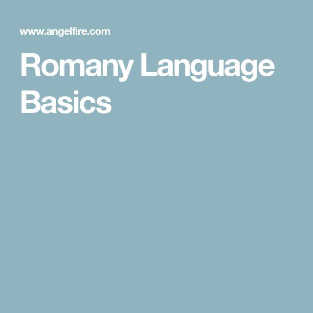 Romany Language Basics