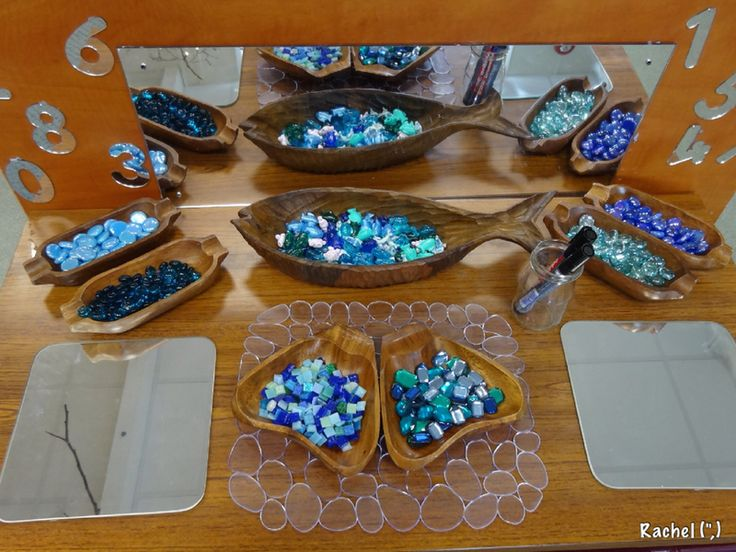 """Mirrors, whiteboard pens & sea-inspired loose parts - from Rachel ("""",)"""