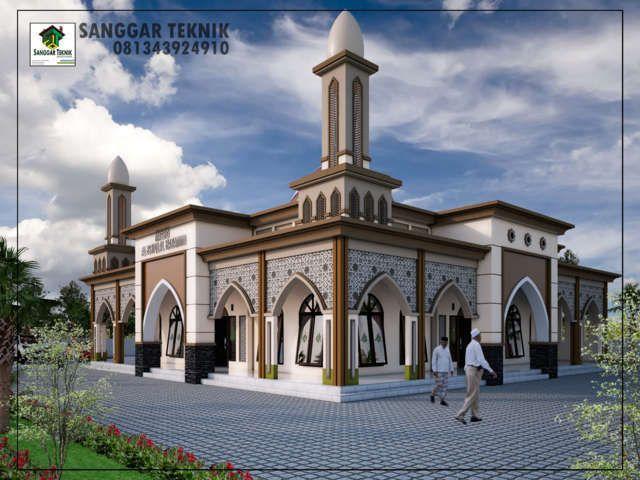 Gambar Desain Masjid Modern 15x15 1 Lantai Sanggar Teknik