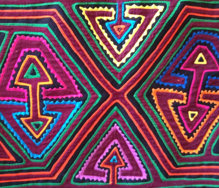 #Mola from the #Kuna people of Panama and Colombia. #textiles
