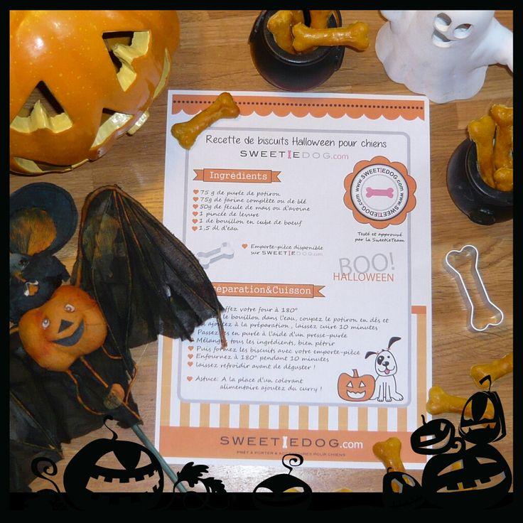 Recette biscuit os pour chiens spécial halloween à la citrouille www.sweetiedog.com DIY homemade