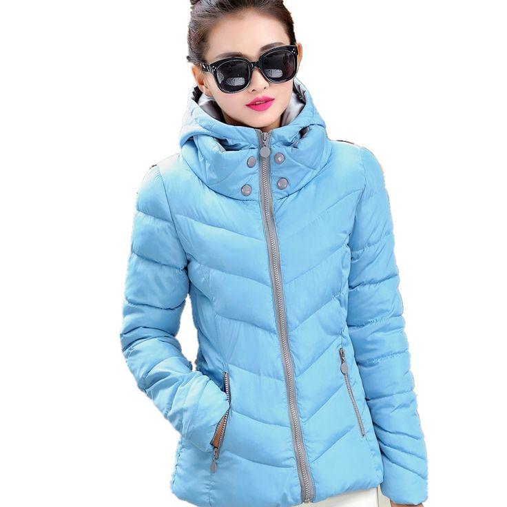 33.54$  Buy here  - Nice Winter Jacket Women Parka Thick Winter Outerwear Plus Size Down Coat Short Slim Design Cotton-padded Jackets&Coats TT1222C
