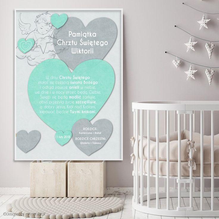 Pamiątka Chrztu Świętego. Pełna personalizacja plakatu #plakat #chrzest #święty #prezent #na #Ścianę #grafika #obrazek #dla #dziecka #pokój #pamiątka #handmade #chrzestna #chrzestny #poster #baptism #baby #pokojdziecka #memorabli