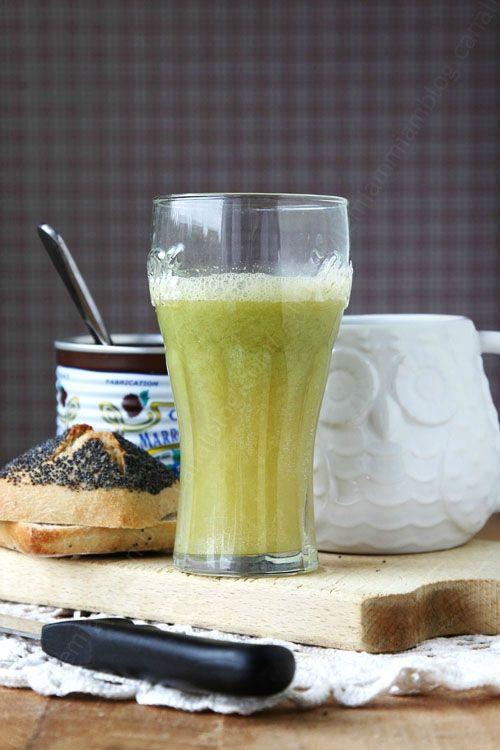 Cocktail de jus de fruits frais maison pomme-gingembre