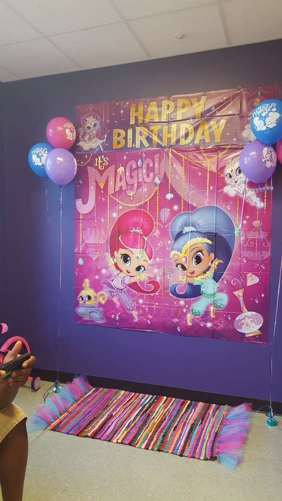 Mallory's Shimmer and Shine 5th Birthday party | CatchMyParty.com
