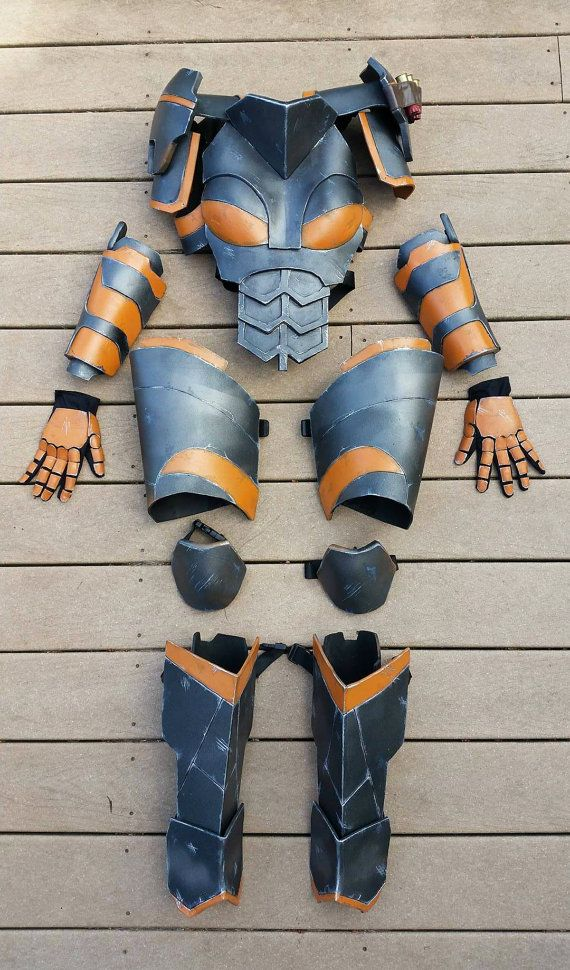 Female Deathstroke cosplay armor by MidLaneProps on Etsy