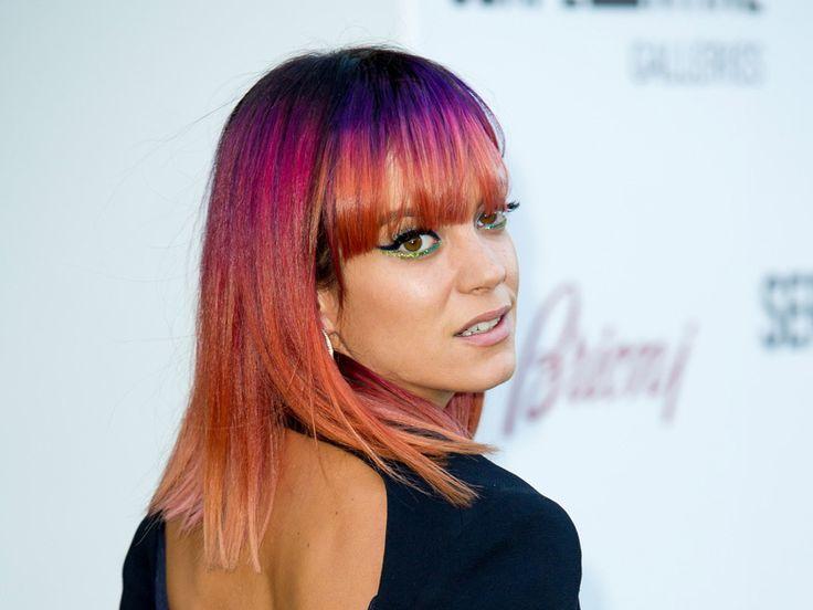 Le nouveau rainbow hair de Lily Allen
